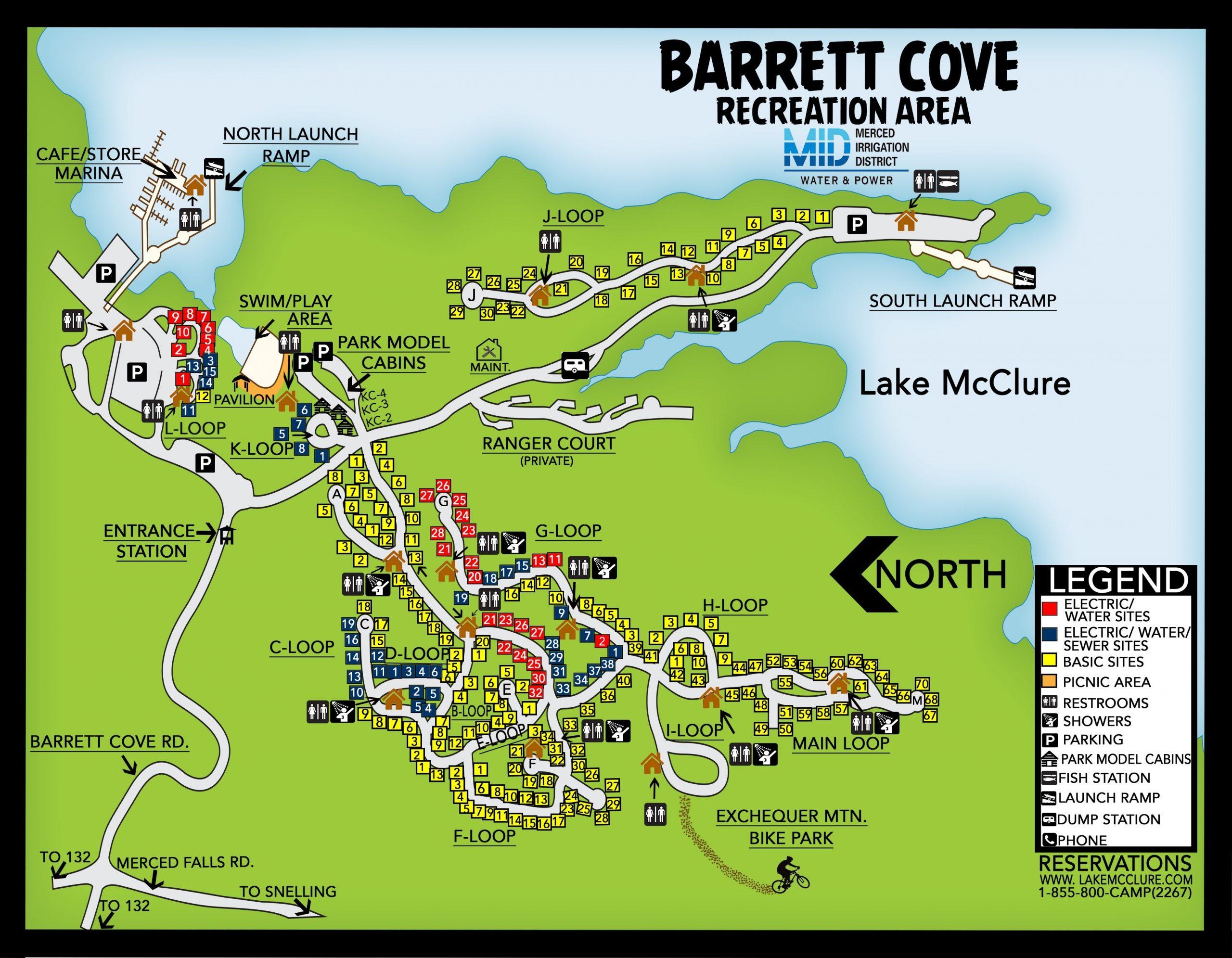 Barrett Cove Campground Map