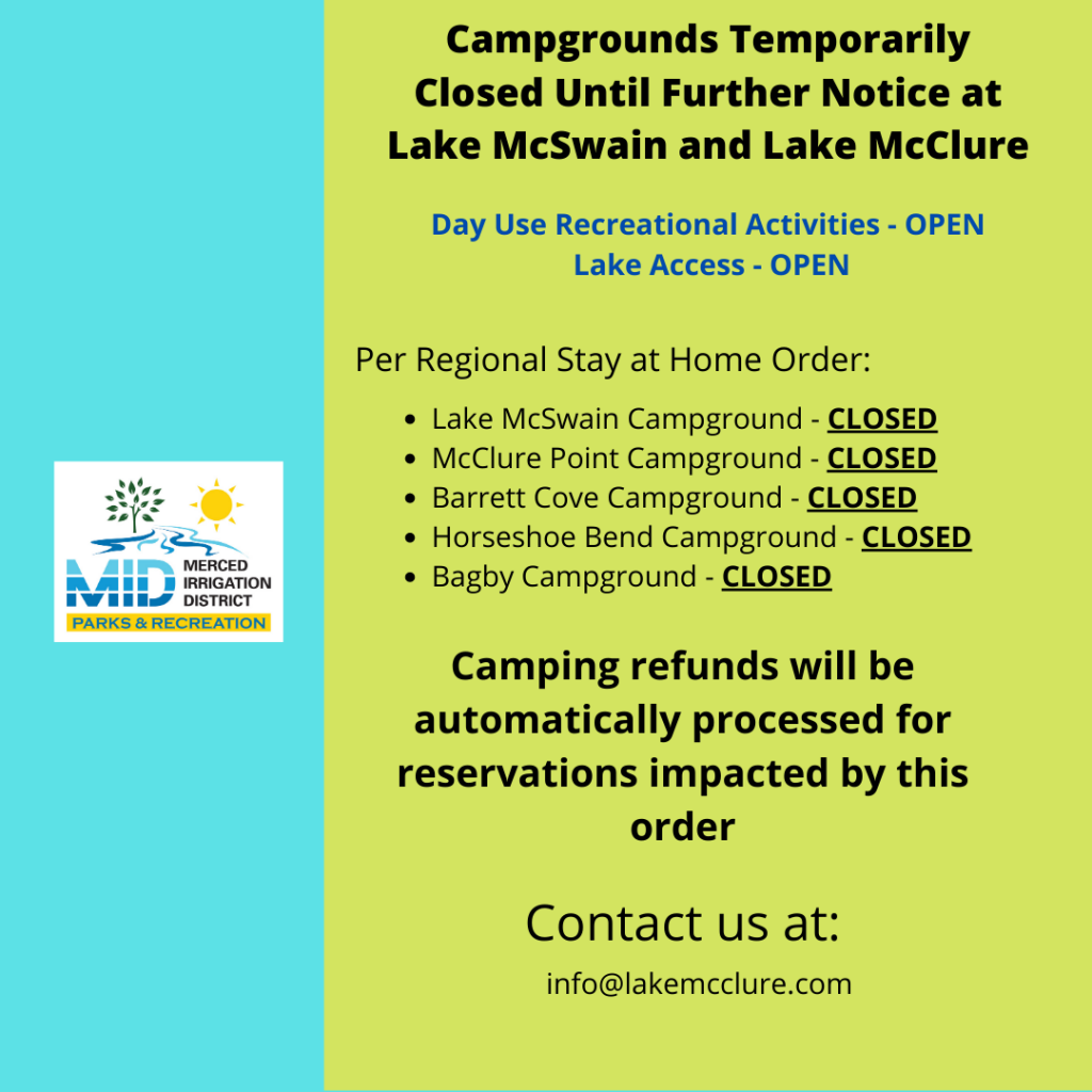 CAMPGROUNDS CLOSED DUE TO COVID